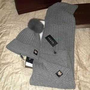 Gucci scarf and beanie unisex style